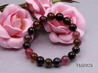 11mm Colorful Round Natural Tourmaline Beads Elasticated Bracelet TMB025 Image 5