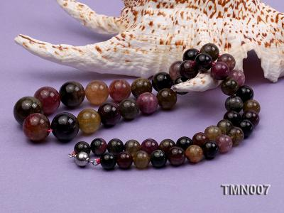 9-17mm Colorful Round Tourmaline Beads Necklace TMN007 Image 6