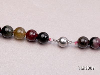 9-17mm Colorful Round Tourmaline Beads Necklace TMN007 Image 7