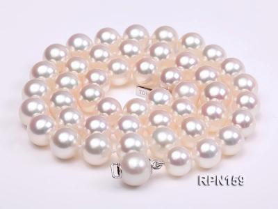 Classic 9mm AAAAA White Round Cultured Freshwater Pearl Necklace RPN159 Image 3