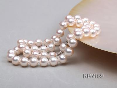 Classic 9mm AAAAA White Round Cultured Freshwater Pearl Necklace RPN159 Image 4