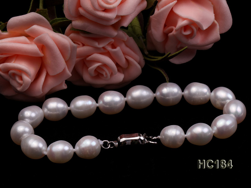 8-9mm white oval freshwater pearl bracelet big Image 4
