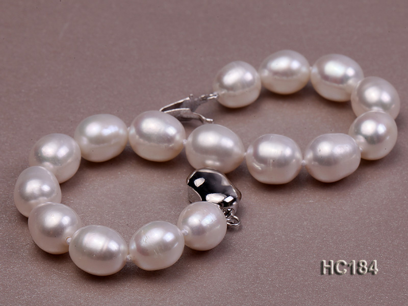 8-9mm white oval freshwater pearl bracelet big Image 5