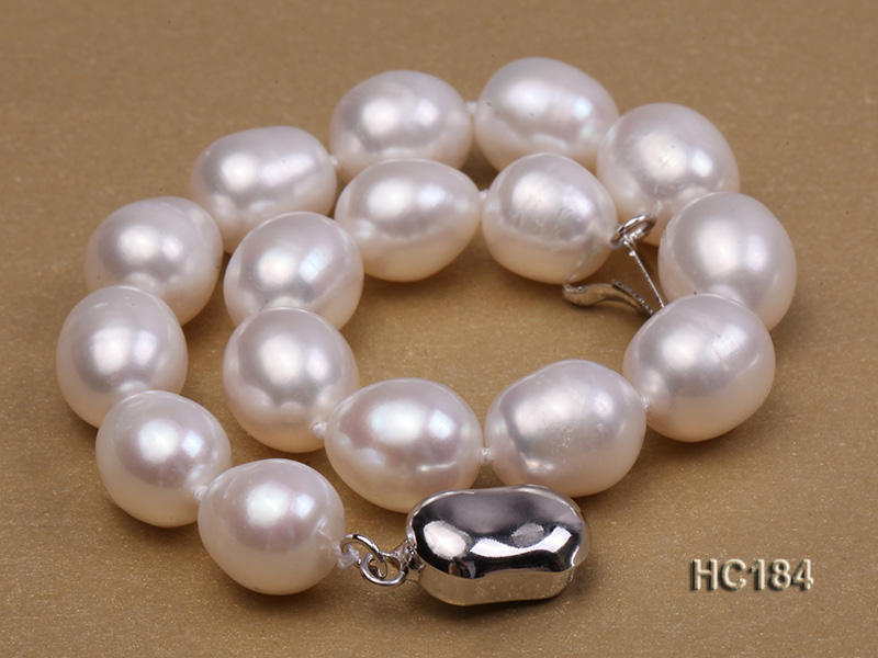 8-9mm white oval freshwater pearl bracelet big Image 6