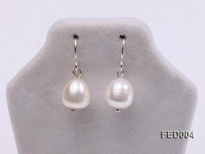 8-9mm White Drop-shaped Freshwater Pearl Earring FED004 Image 2