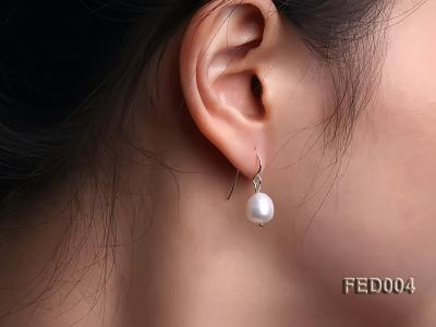 8-9mm White Drop-shaped Freshwater Pearl Earring FED004 Image 1