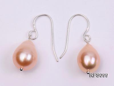 9-10mm Pink Rice-shaped Freshwater Pearl Necklace, Bracelet and earrings Set RFS099 Image 2