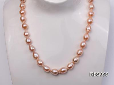 9-10mm Pink Rice-shaped Freshwater Pearl Necklace, Bracelet and earrings Set RFS099 Image 11