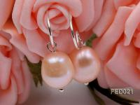 9-10mm Pink Oval Freshwater Pearl Earring FED021