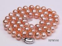 AAA-grade 7.5mm Natural Pink Round Freshwater Pearl Necklace RPN116