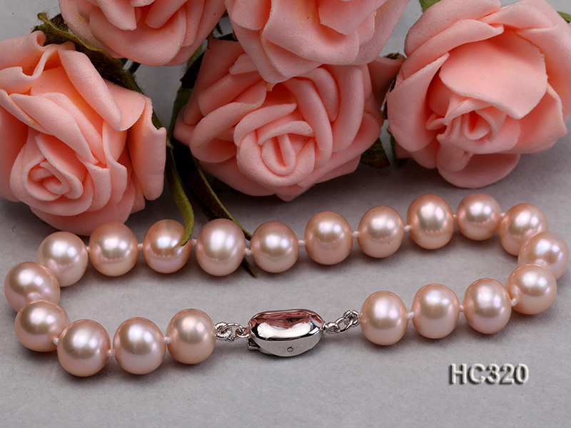 8mm AAA round freshwater pearl bracelet big Image 5