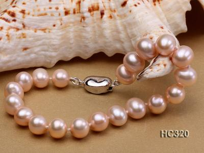 8mm AAA round freshwater pearl bracelet HC320 Image 7
