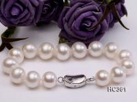 11-12mm AAA round freshwater pearl bracelet HC361