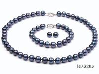 9-10mm AAA  round freshwater pearl necklace,bracelet and earring set RPS203