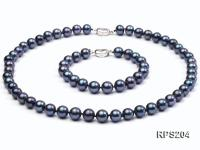 9-10mm AAA  round freshwater pearl necklace and bracelet set RPS204