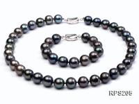 12mm AAA  round freshwater pearl necklace and bracelet set RPS205