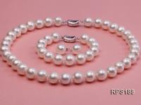 11.5-12.5mm AAAA round freshwater pearl necklace,bracelet and earring set RPS188