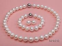 12-13mm AAA round freshwater pearl necklace,bracelet and earring set RPS212