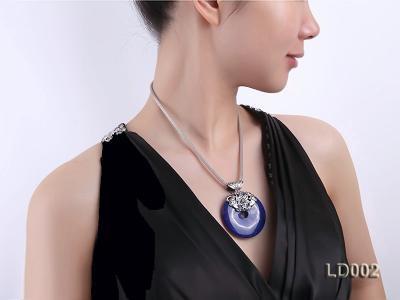 Azure Blue Lapis Lazuli Pendant with Sterling Silver Fitting LD002 Image 3