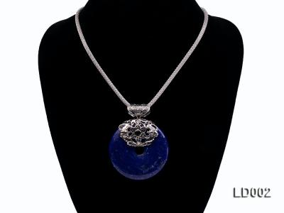 Azure Blue Lapis Lazuli Pendant with Sterling Silver Fitting LD002 Image 4