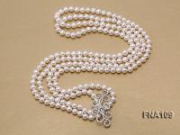 8-9mm Round White Freshwater Pearl Long Necklace FNA109