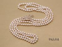 8-9mm Round White Freshwater Pearl Long Necklace FNA119