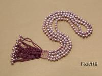 2 Strand 8mm Natural purple Freshwater Pearl Necklace  FNA116