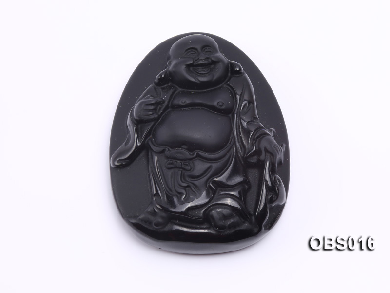 43x55mm Black Obsidian Pendant big Image 1