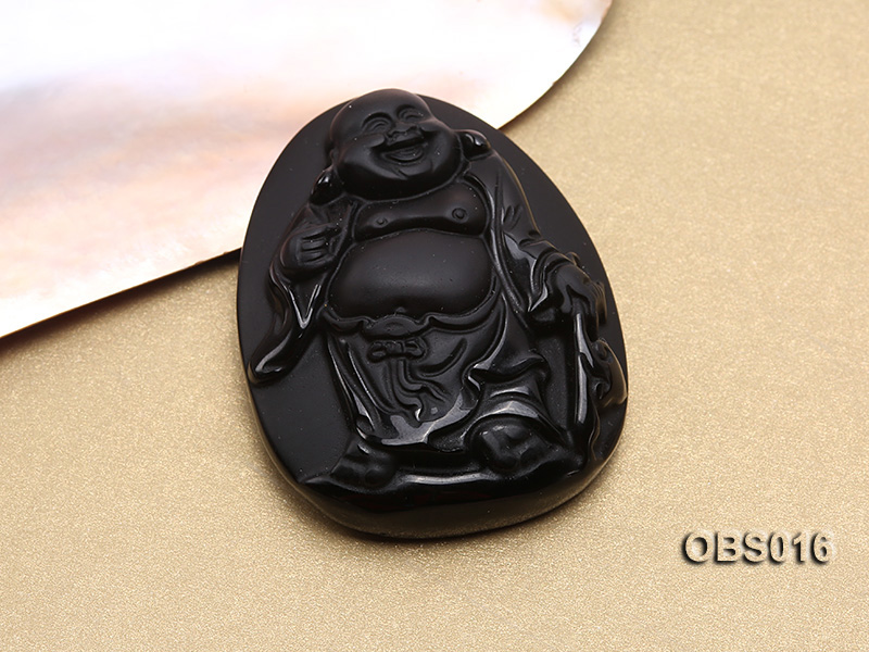 43x55mm Black Obsidian Pendant big Image 2