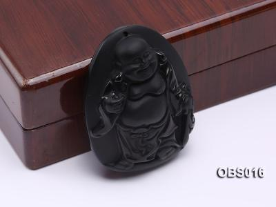 43x55mm Black Obsidian Pendant OBS016 Image 3