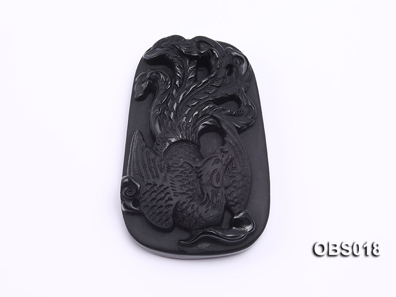 37x53mm Black Obsidian Pendant big Image 1