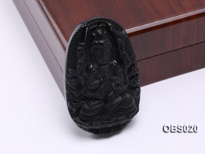 40x60mm Black Obsidian Pendant OBS020 Image 2