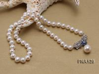 Selected 8-9mm Round White Pearl Necklace  FNA126