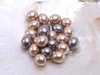 Wholesale 15x18mm Oval Seashell Pearl Bead LSP096
