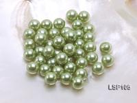 Wholesale 10.5mm Olive Round Seashell Pearl Bead LSP105