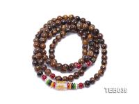 6.5mm Natural Tiger Eye Beads Elasticated Bracelet TEB039