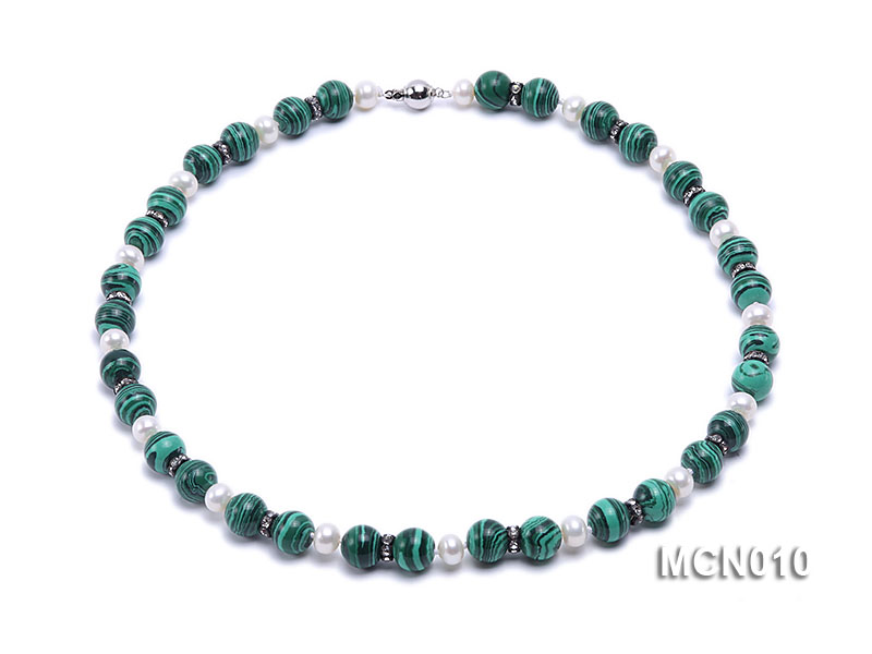 10mm Malachite Beads Necklace big Image 1