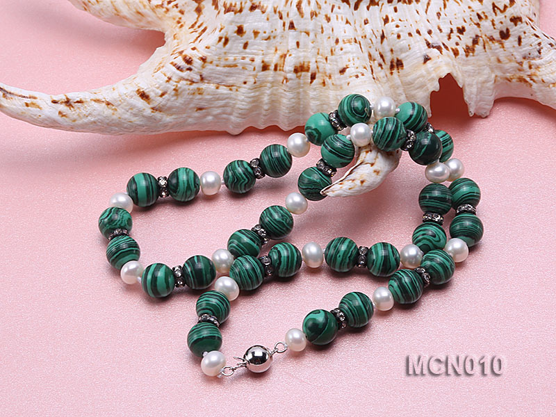 10mm Malachite Beads Necklace big Image 4