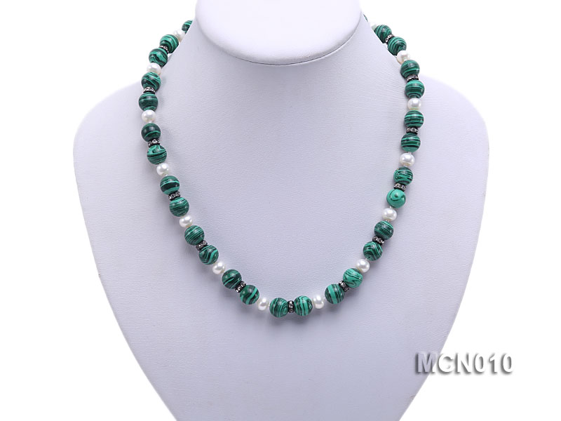 10mm Malachite Beads Necklace big Image 5
