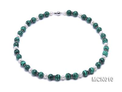 10mm Malachite Beads Necklace MCN010 Image 1
