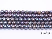 Wholesale 9-10mm Black Round Freshwater Pearl String RPW229