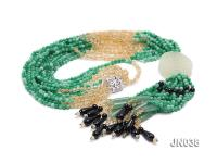 4.5mm Round Green Korean Jade Necklace JN038