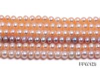 Wholesale  5.5x6.5mm pink Flat Pearl String FPW125