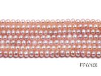 Wholesale  5X6mm pink Flat Pearl String FPW126
