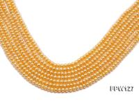 Wholesale  5x6mm  Flat  Round Pearl String FPW127