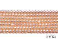 Wholesale  5X5.5mm pink Flat Pearl String FPW128
