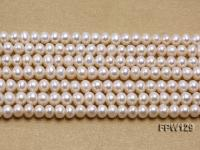 Wholesale  4X5.5mm  Flat Pearl String FPW129
