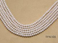 Wholesale  5.5x6.5mm   Flat Round Pearl String FPW130