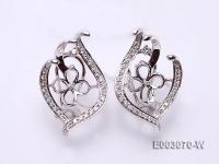 18k White Gold Earring Bail Dotted with Diamonds E003070-W