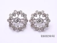 18k White Gold Earring Bail Dotted with Diamonds ES03210-W
